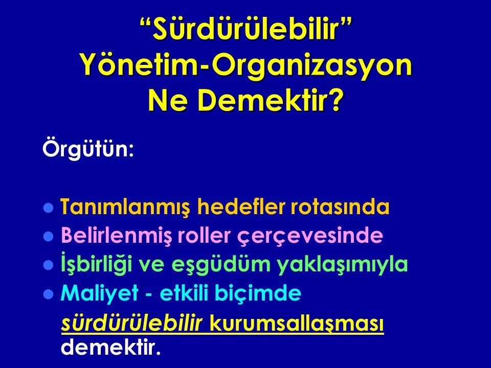 Sürdürülebilir Yönetim-Organizasyon Ne Demektir
