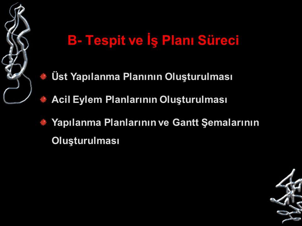 B- Tespit ve İş Planı Süreci