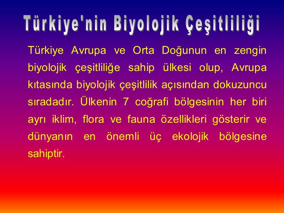 Türkiye nin Biyolojik Çeşitliliği