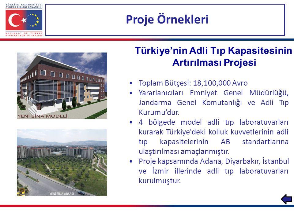 Türkiye'nin Adli Tıp Kapasitesinin Artırılması Projesi