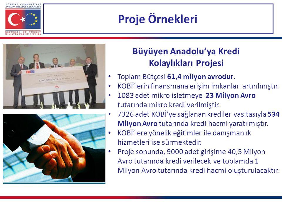 Büyüyen Anadolu'ya Kredi Kolaylıkları Projesi