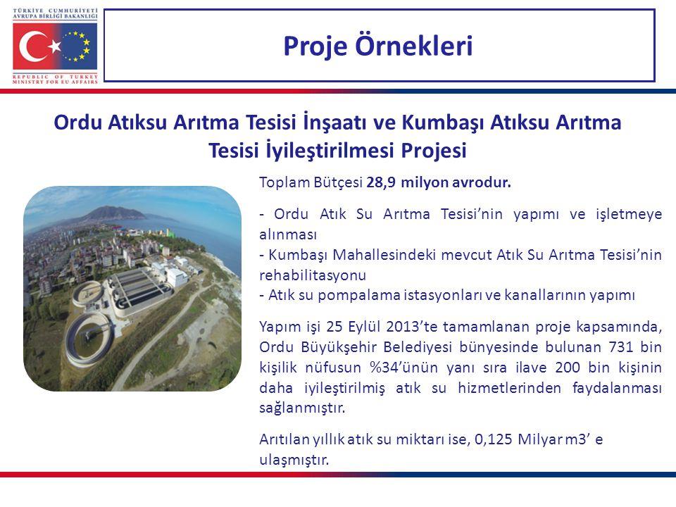 Proje Örnekleri Ordu Atıksu Arıtma Tesisi İnşaatı ve Kumbaşı Atıksu Arıtma Tesisi İyileştirilmesi Projesi.