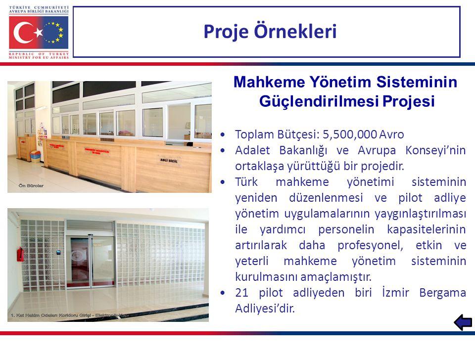 Mahkeme Yönetim Sisteminin Güçlendirilmesi Projesi
