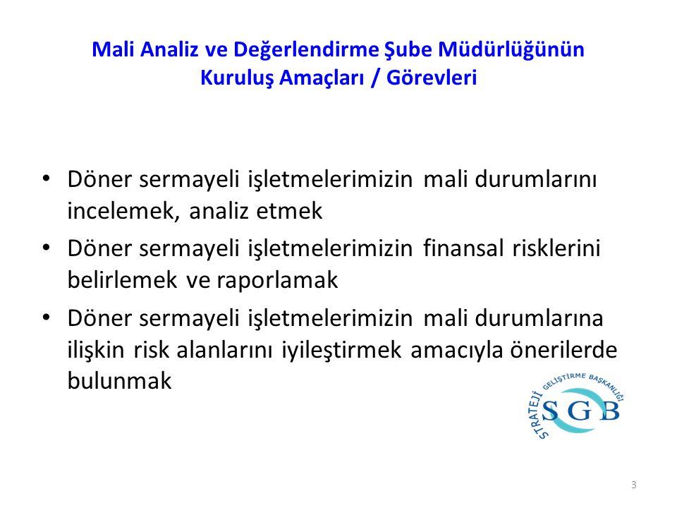 Mali Analiz ve Değerlendirme Şube Müdürlüğünün Kuruluş Amaçları / Görevleri