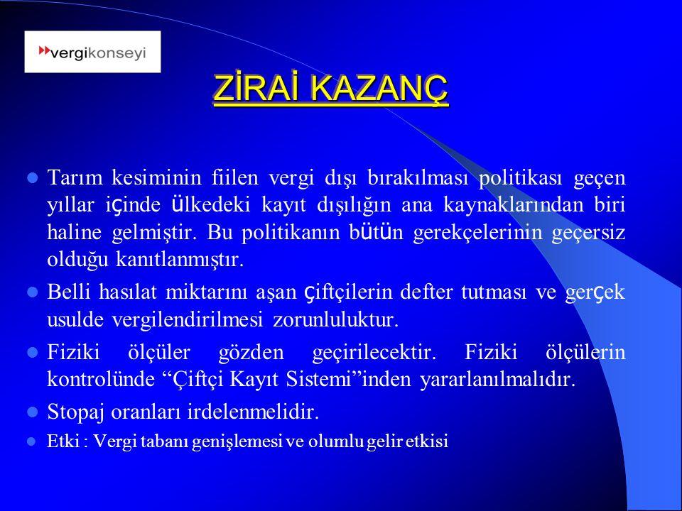 ZİRAİ KAZANÇ