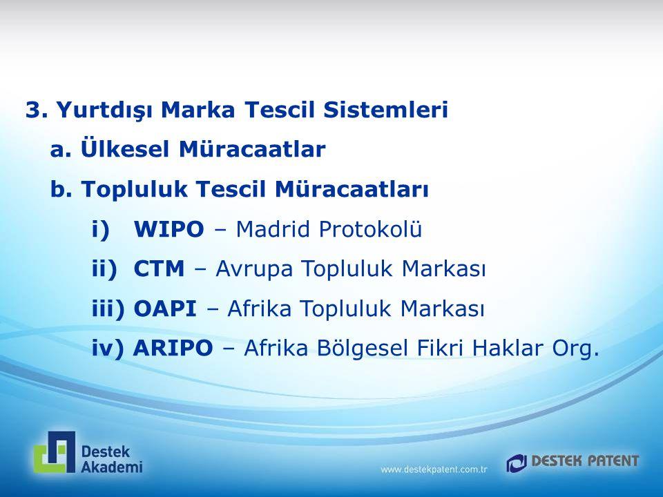 3. Yurtdışı Marka Tescil Sistemleri