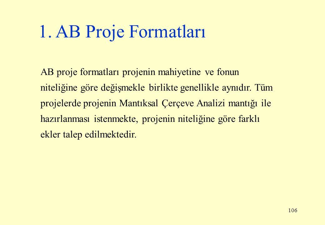 1. AB Proje Formatları