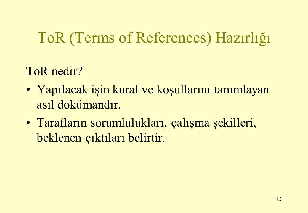 ToR (Terms of References) Hazırlığı