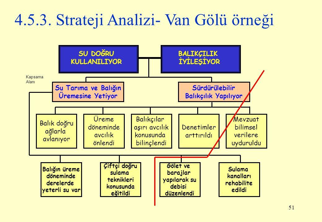 4.5.3. Strateji Analizi- Van Gölü örneği