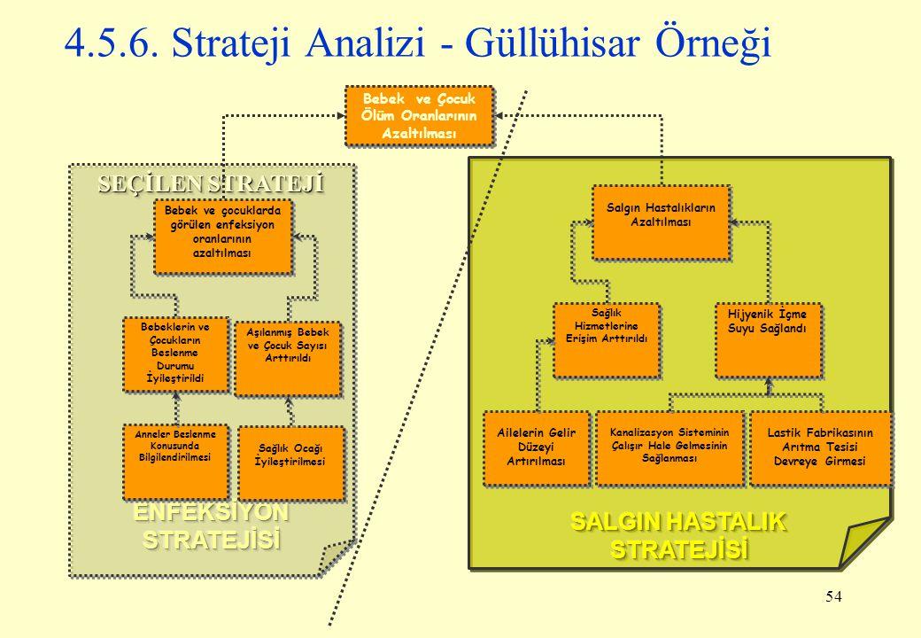 4.5.6. Strateji Analizi - Güllühisar Örneği
