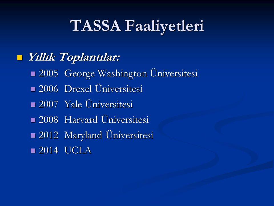 TASSA Faaliyetleri Yıllık Toplantılar: