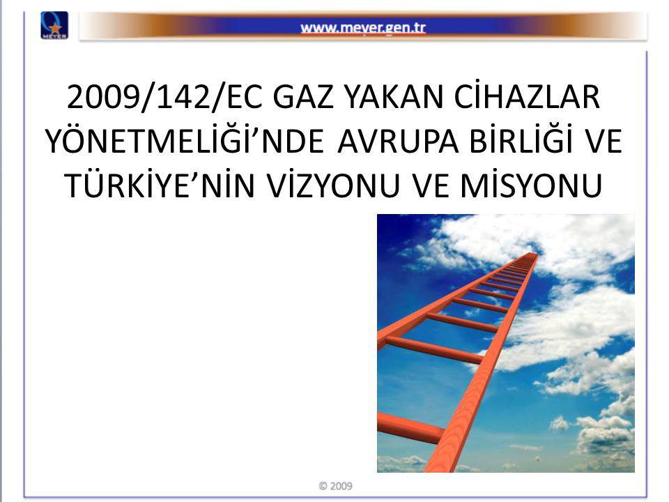 2009/142/EC GAZ YAKAN CİHAZLAR YÖNETMELİĞİ'NDE AVRUPA BİRLİĞİ VE TÜRKİYE'NİN VİZYONU VE MİSYONU