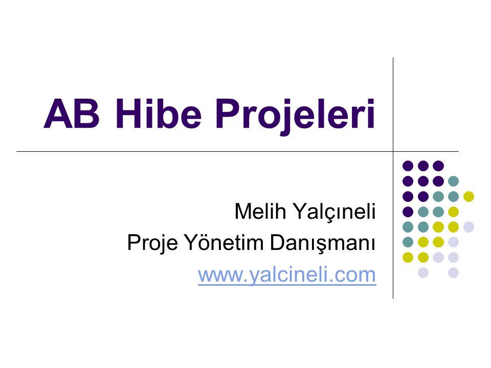 Melih Yalçıneli Proje Yönetim Danışmanı www.yalcineli.com