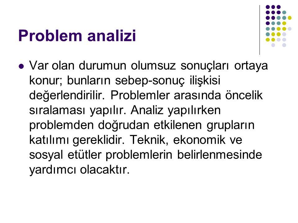 Problem analizi