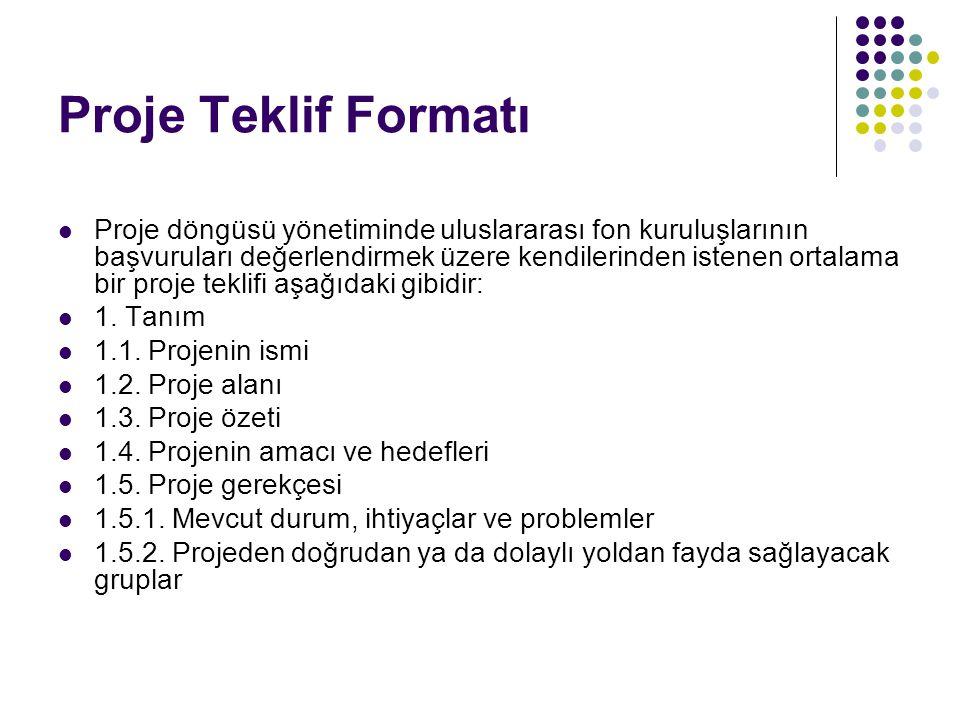 Proje Teklif Formatı