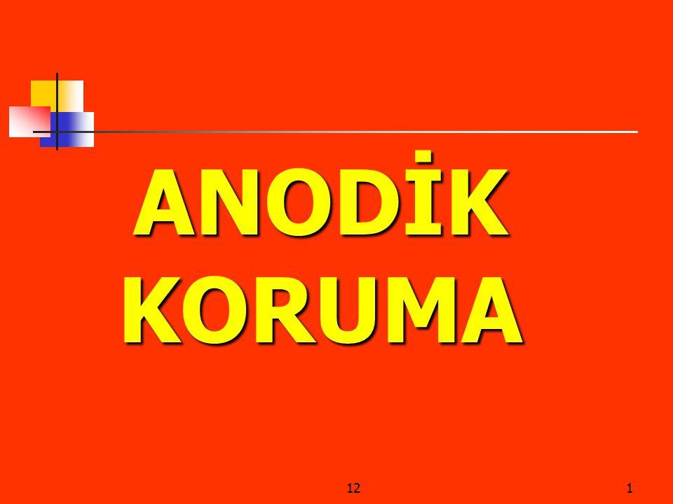 ANODİK KORUMA 12
