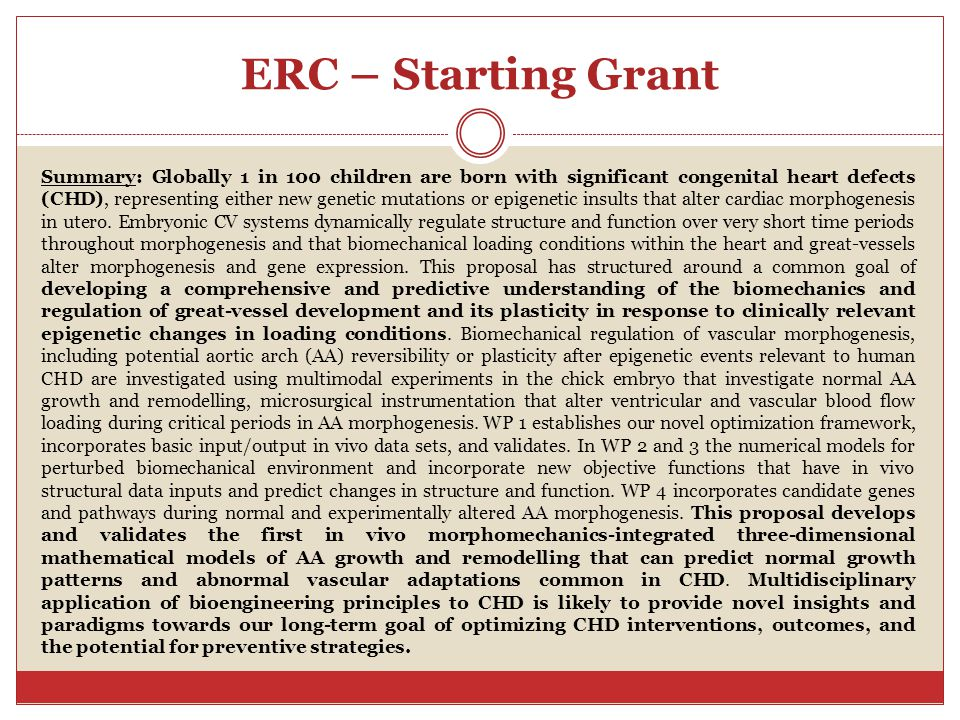 ERC – Starting Grant