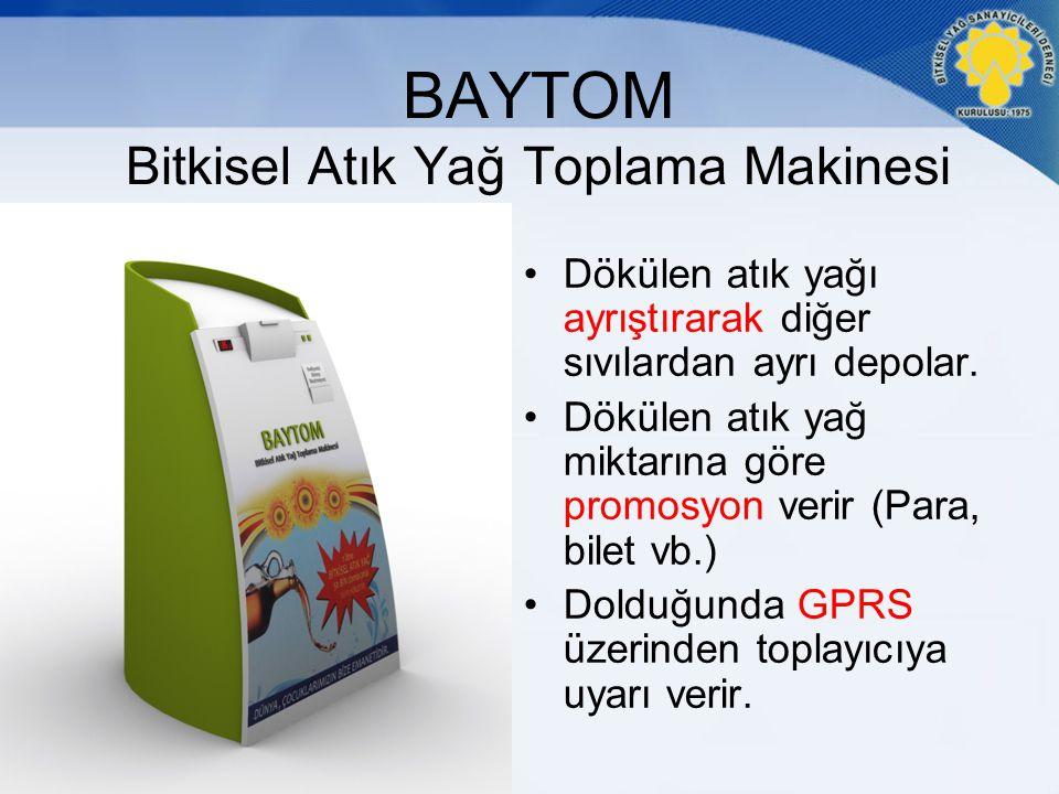 BAYTOM Bitkisel Atık Yağ Toplama Makinesi