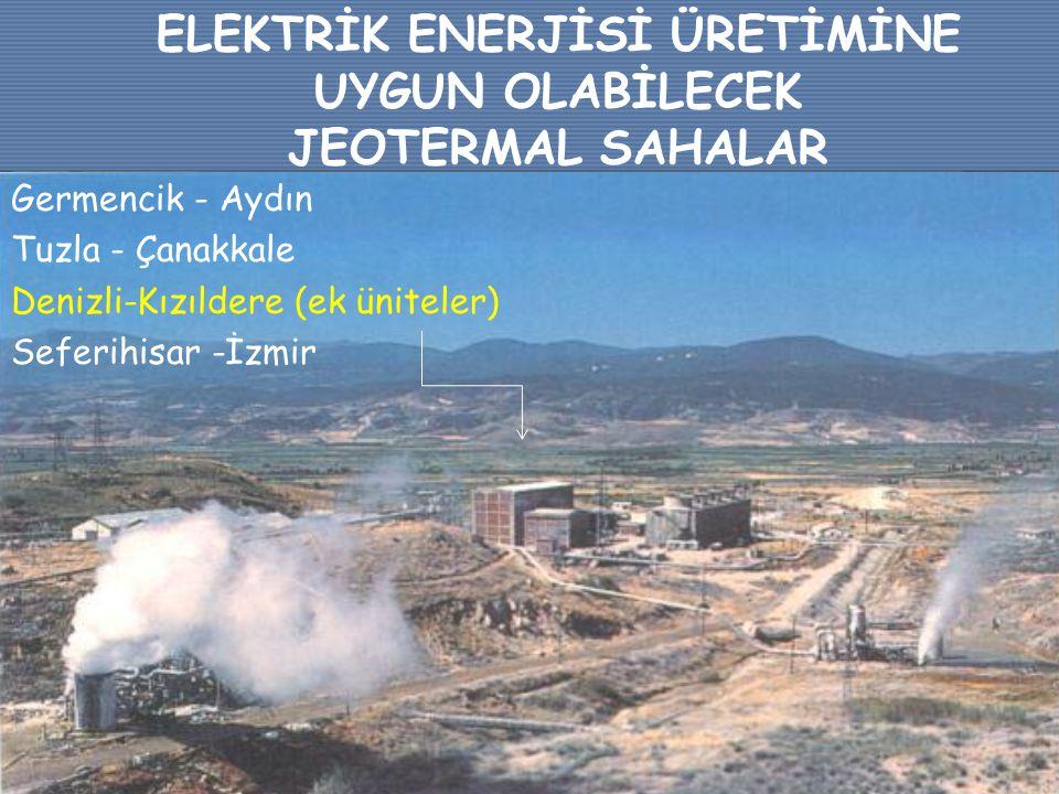 ELEKTRİK ENERJİSİ ÜRETİMİNE UYGUN OLABİLECEK JEOTERMAL SAHALAR