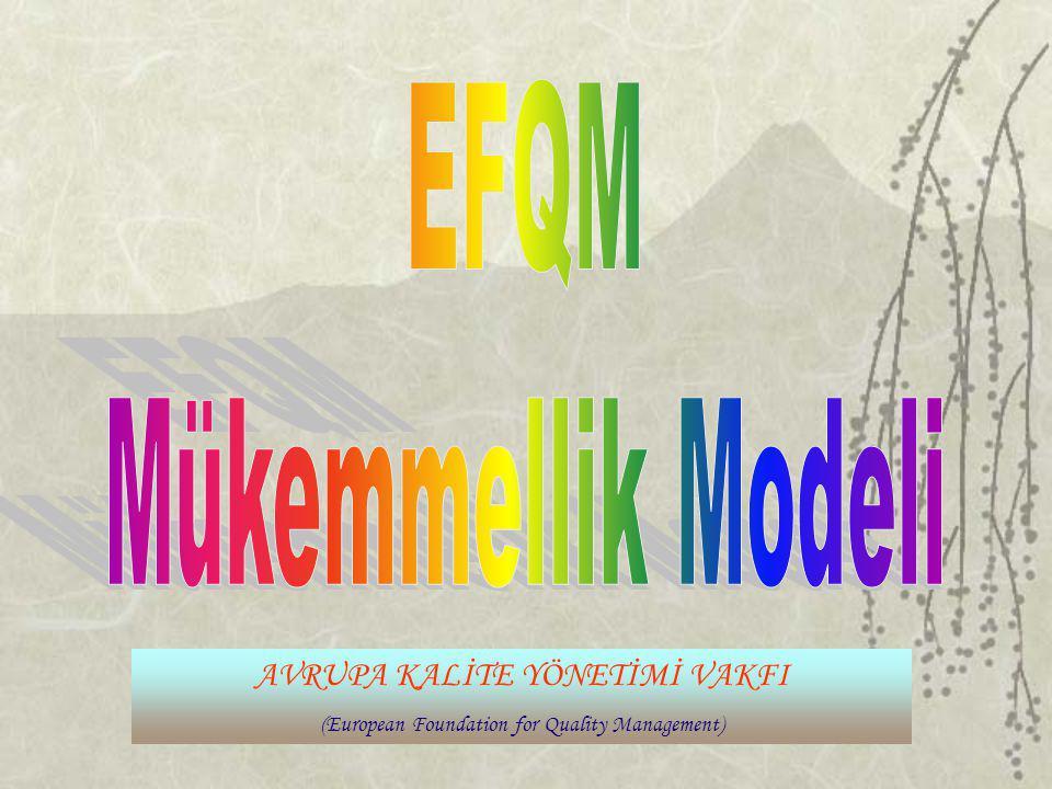 EFQM Mükemmellik Modeli AVRUPA KALİTE YÖNETİMİ VAKFI