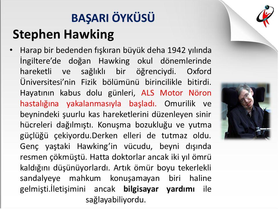 Stephen Hawking BAŞARI ÖYKÜSÜ