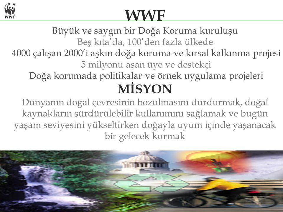 WWF MİSYON Büyük ve saygın bir Doğa Koruma kuruluşu