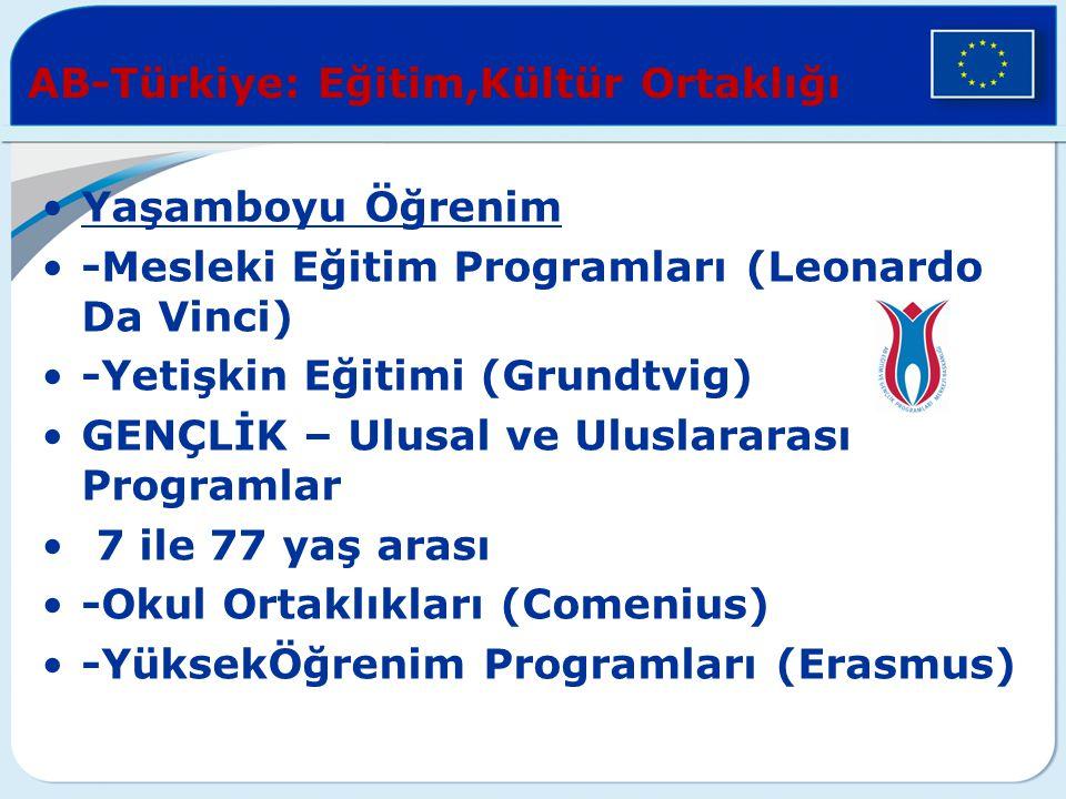 AB-Türkiye: Eğitim,Kültür Ortaklığı