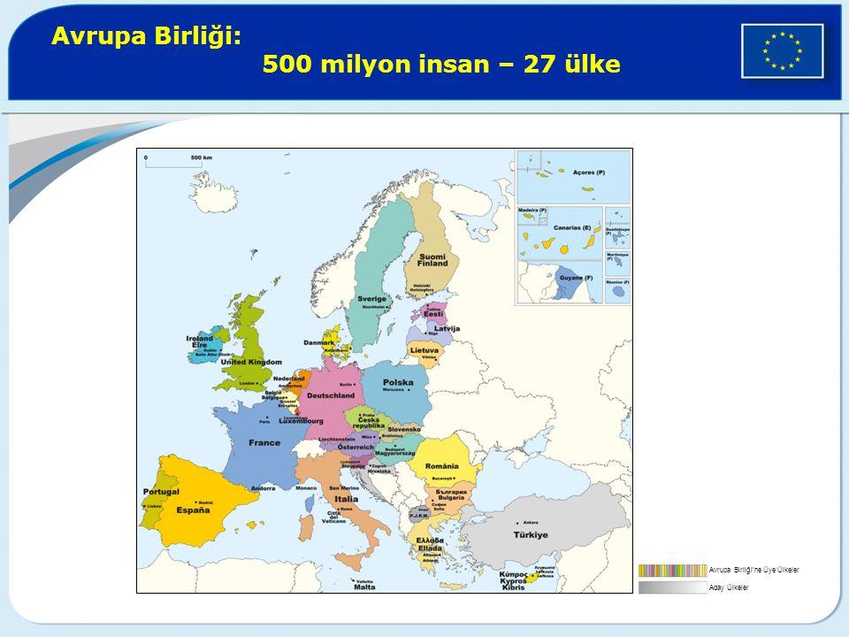Avrupa Birliği: 500 milyon insan – 27 ülke