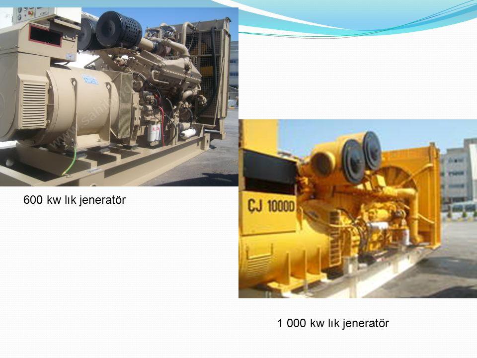 600 kw lık jeneratör 1 000 kw lık jeneratör