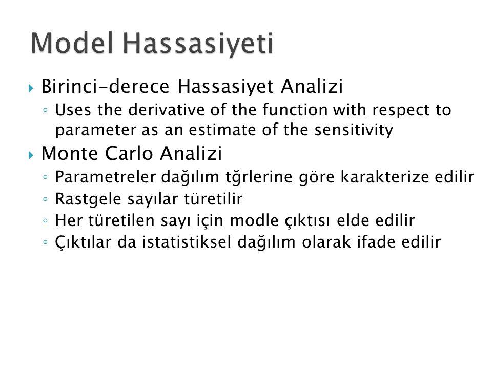 Model Hassasiyeti Birinci-derece Hassasiyet Analizi