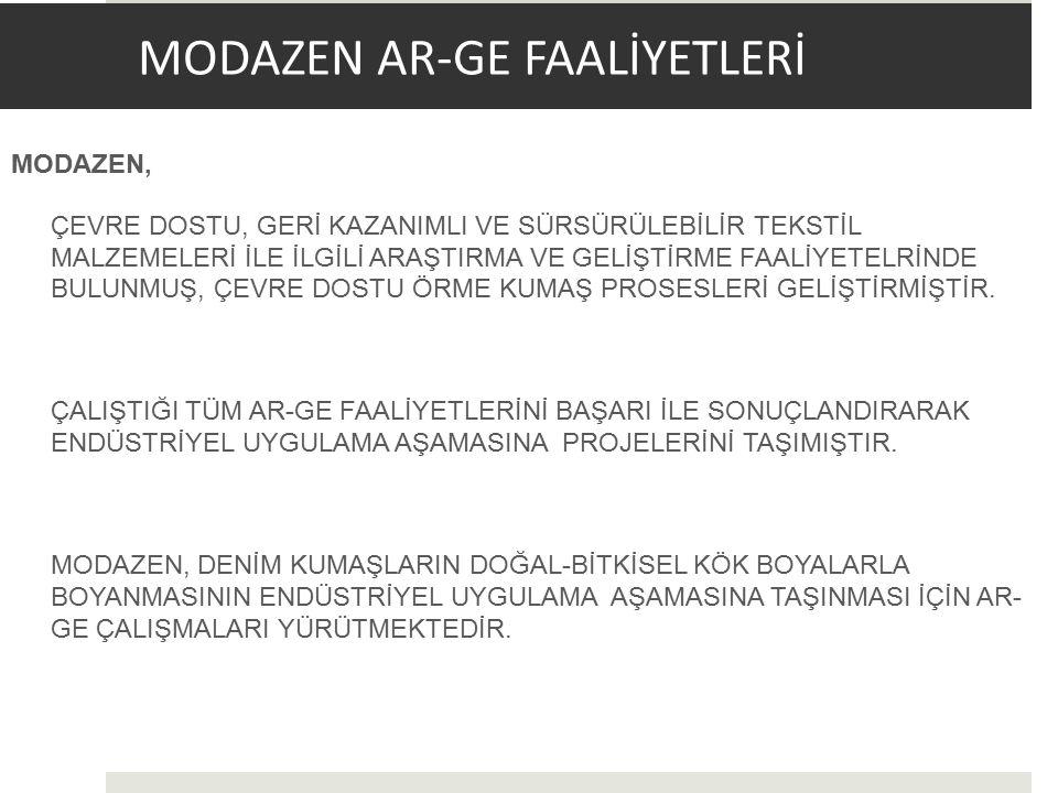 MODAZEN AR-GE FAALİYETLERİ