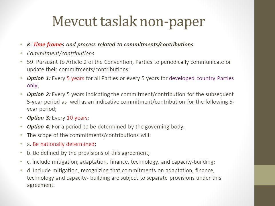Mevcut taslak non-paper