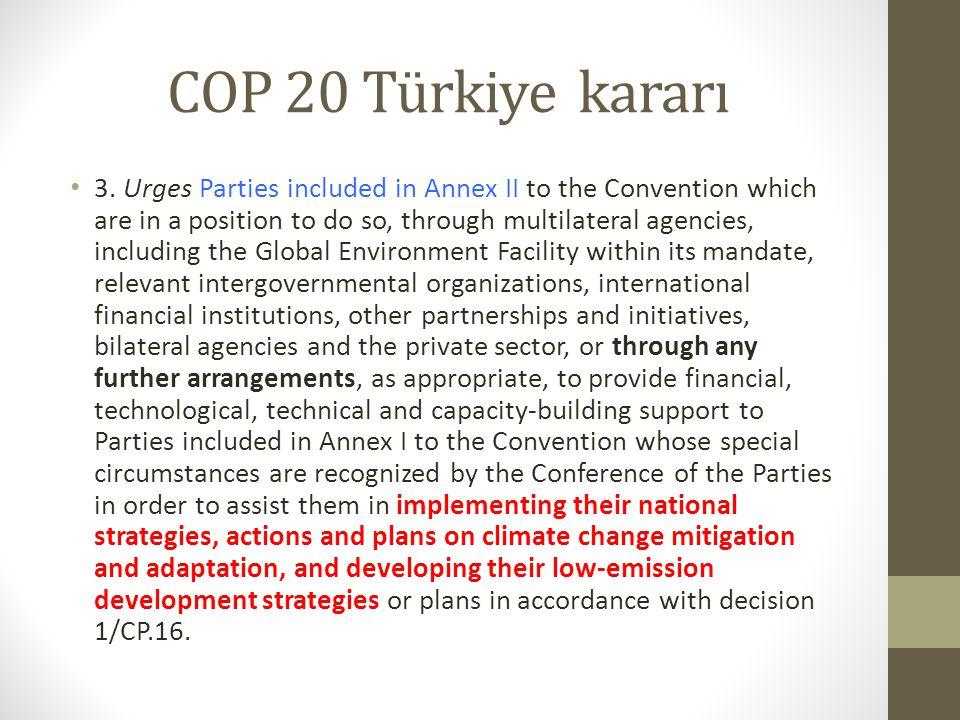 COP 20 Türkiye kararı