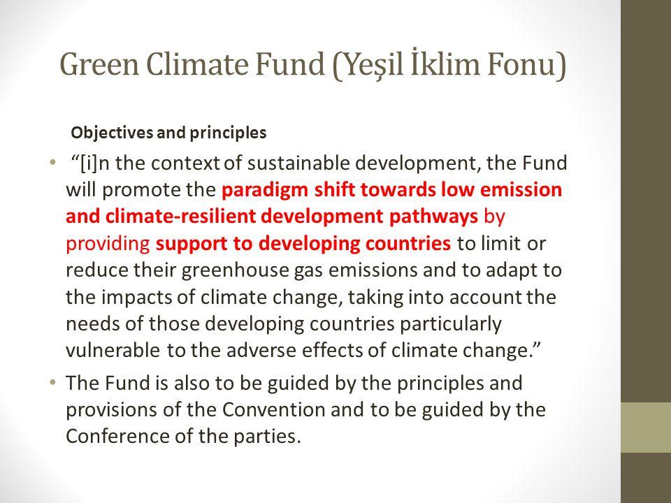 Green Climate Fund (Yeşil İklim Fonu)