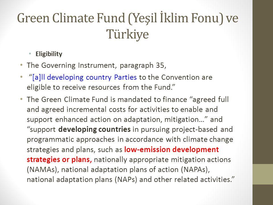 Green Climate Fund (Yeşil İklim Fonu) ve Türkiye