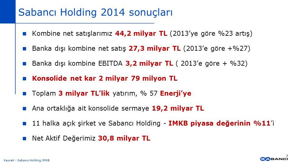 Sabancı Holding 2014 sonuçları