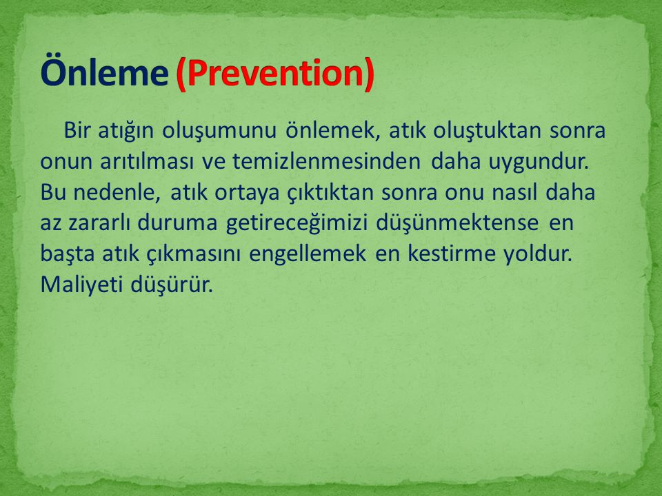 Önleme (Prevention)