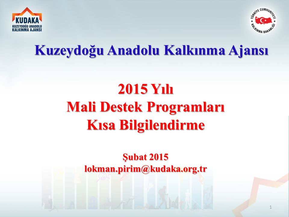 Kuzeydoğu Anadolu Kalkınma Ajansı Mali Destek Programları