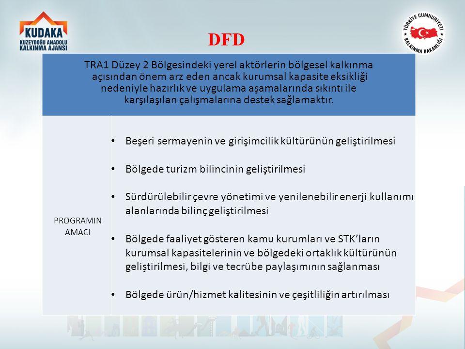 DFD TRA1 Düzey 2 Bölgesindeki yerel aktörlerin bölgesel kalkınma