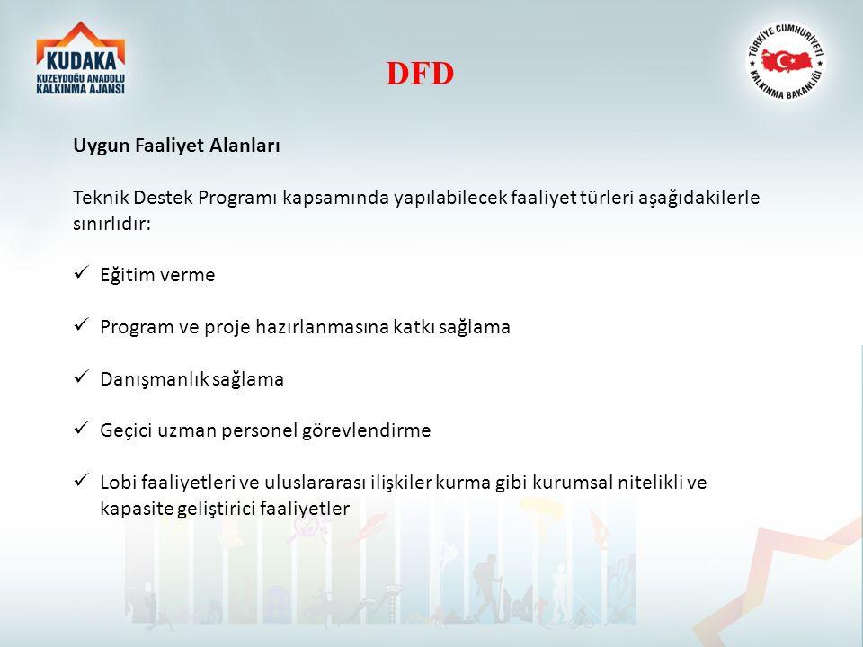 DFD Uygun Faaliyet Alanları