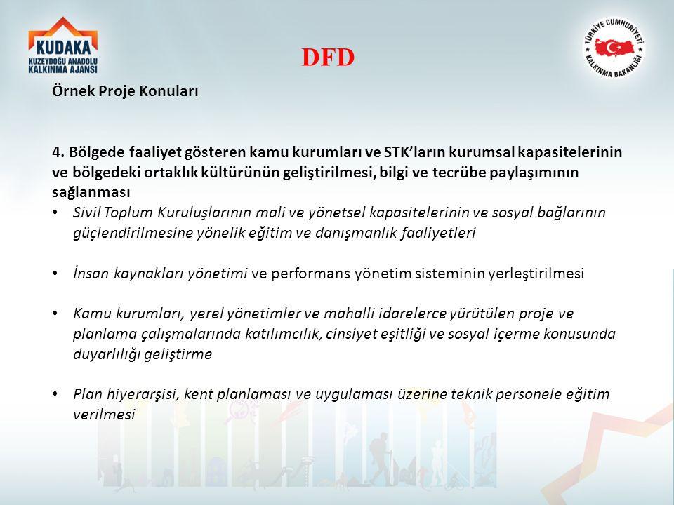 DFD Örnek Proje Konuları