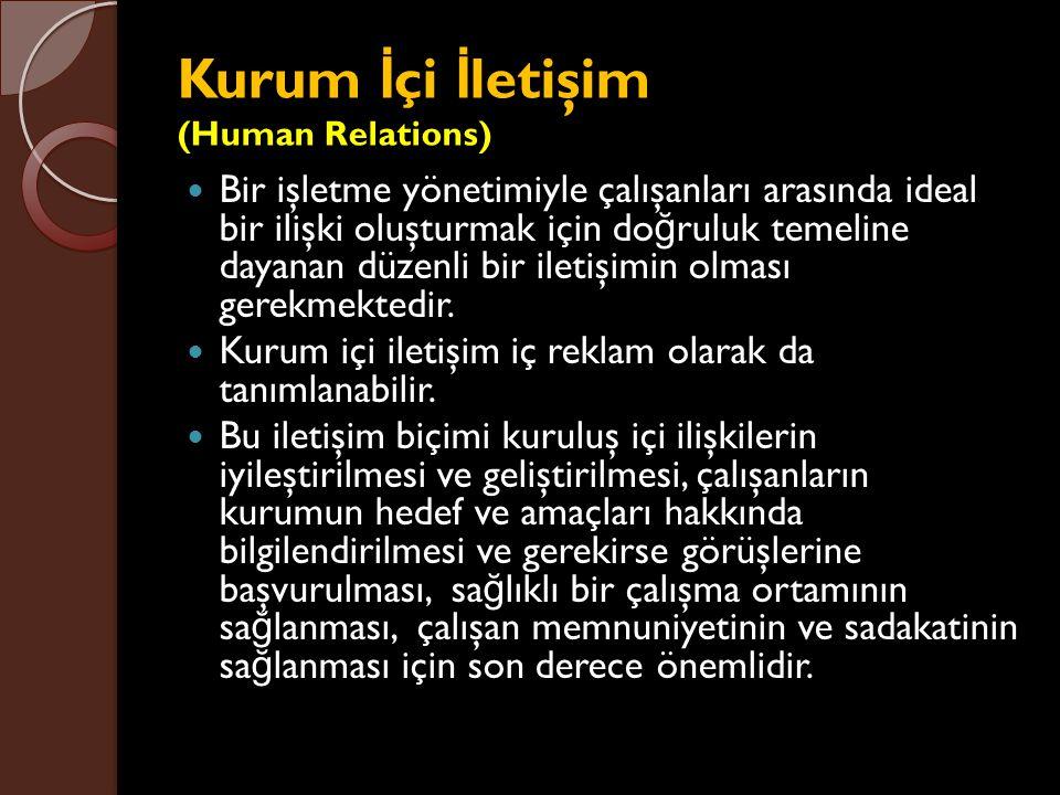Kurum İçi İletişim (Human Relations)