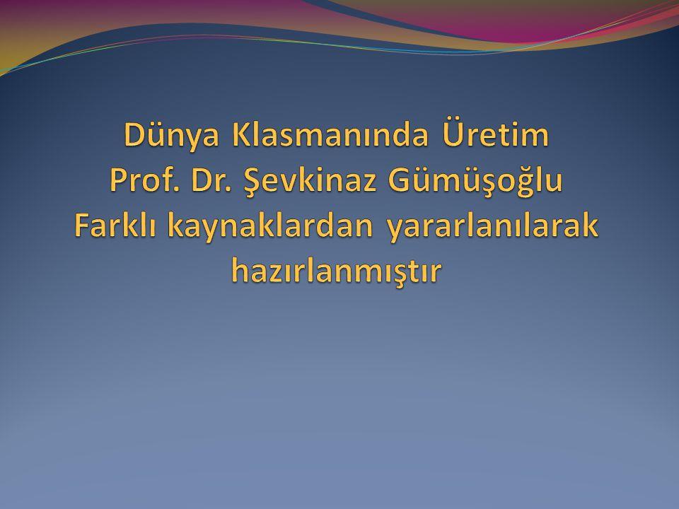 Dünya Klasmanında Üretim Prof. Dr
