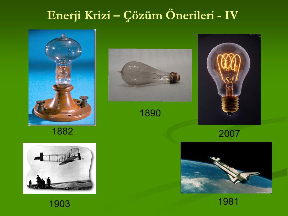 Enerji Krizi – Çözüm Önerileri - IV
