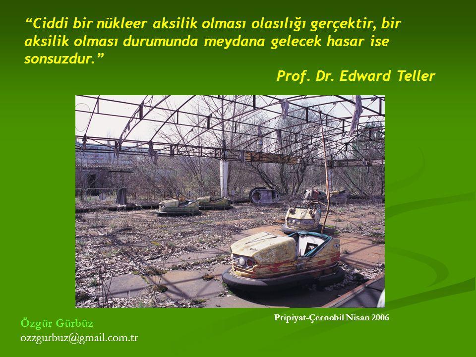 Ciddi bir nükleer aksilik olması olasılığı gerçektir, bir aksilik olması durumunda meydana gelecek hasar ise sonsuzdur.