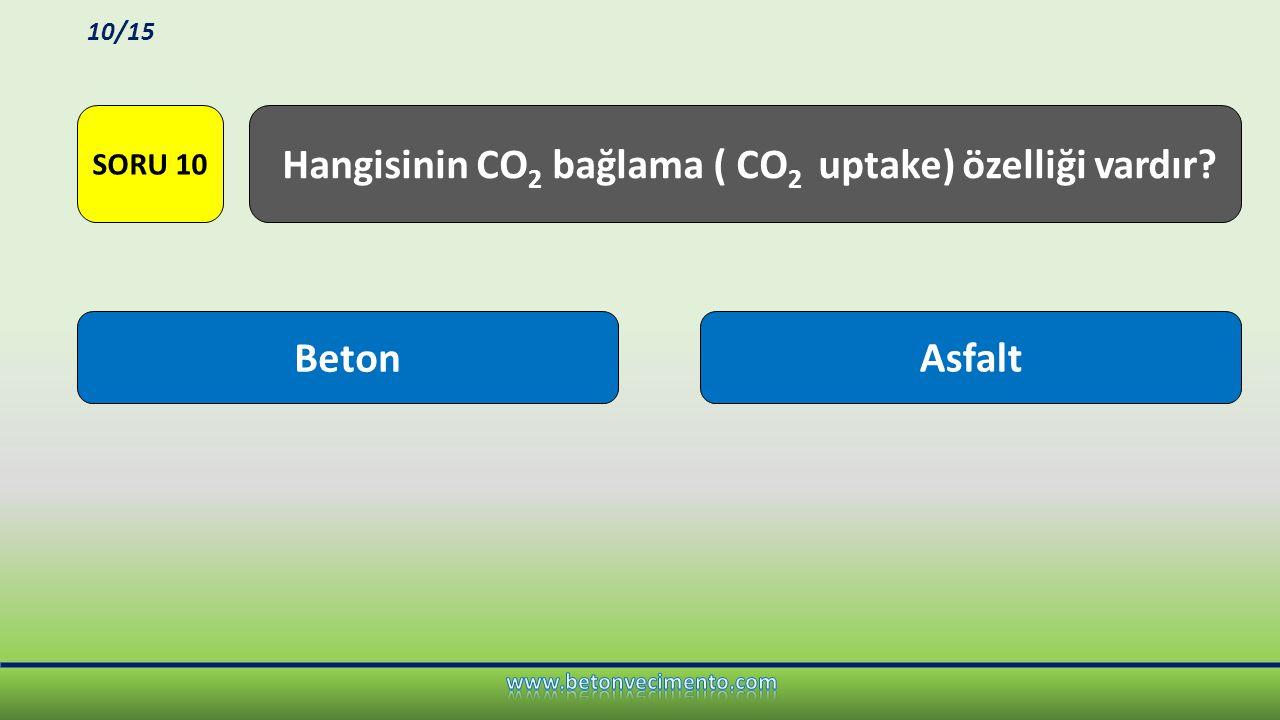 Hangisinin CO2 bağlama ( CO2 uptake) özelliği vardır