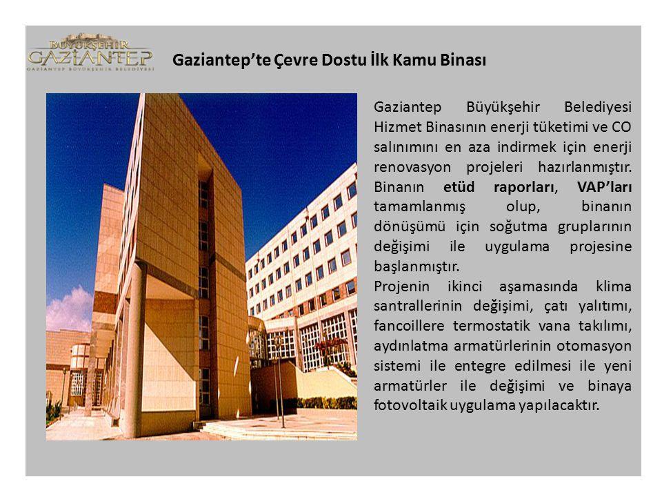 Gaziantep'te Çevre Dostu İlk Kamu Binası