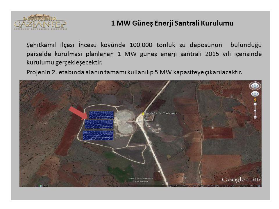 1 MW Güneş Enerji Santrali Kurulumu