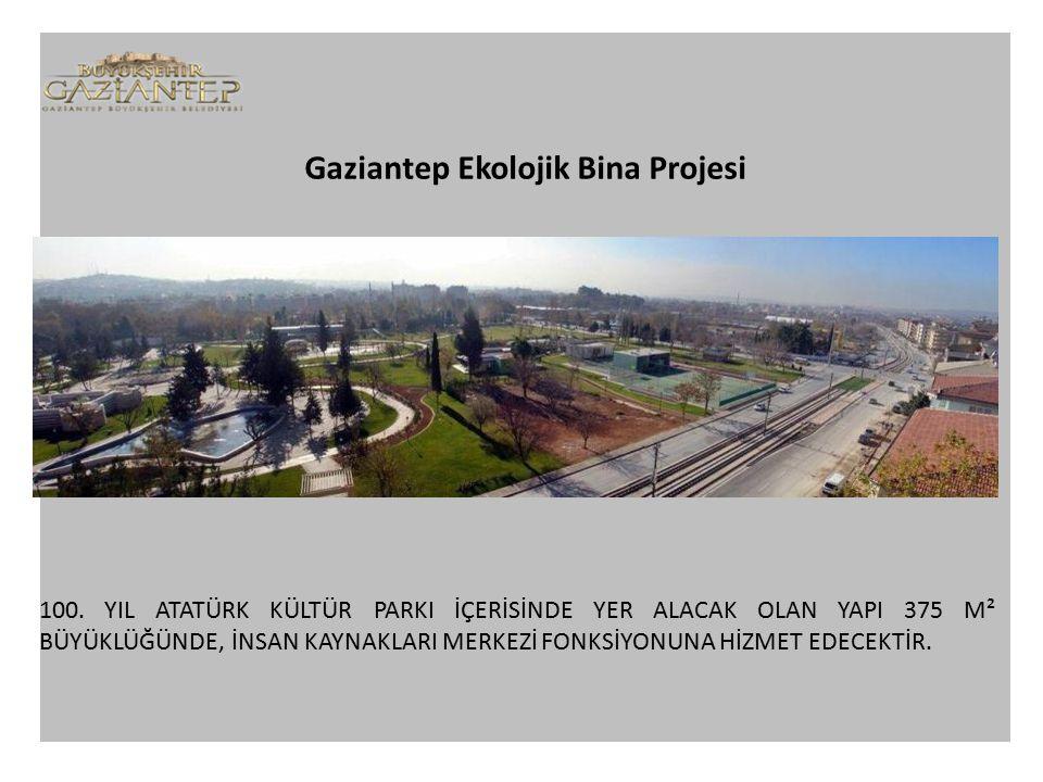 Gaziantep Ekolojik Bina Projesi