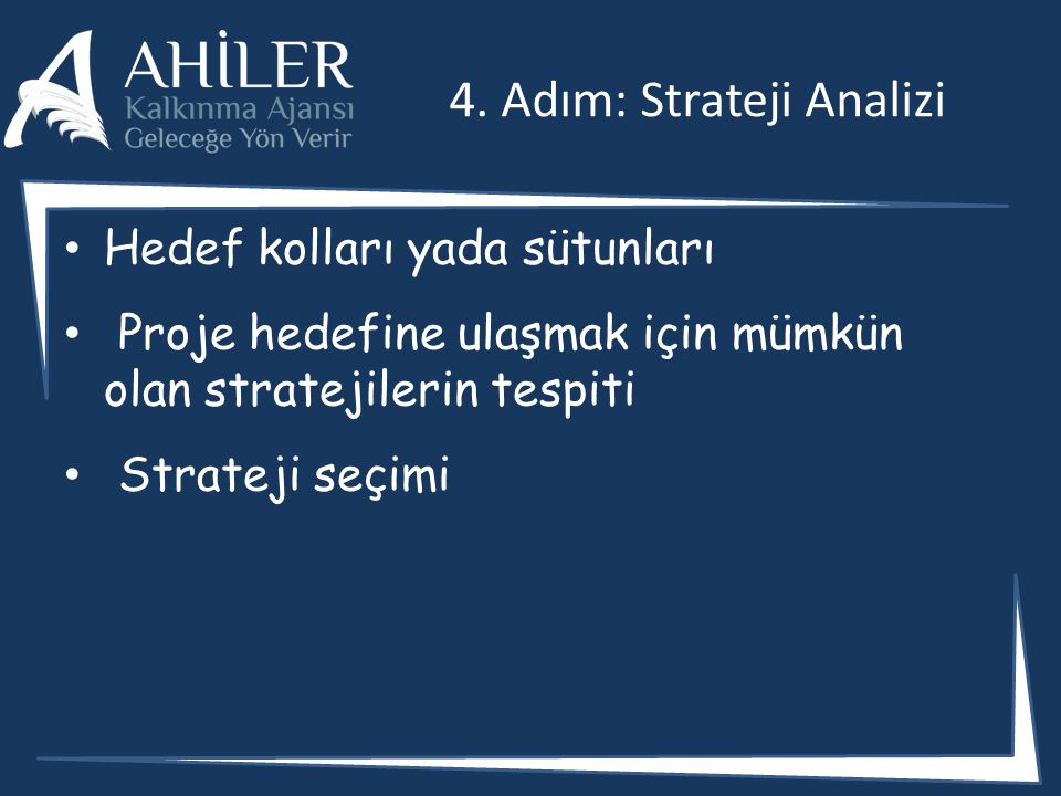 4. Adım: Strateji Analizi